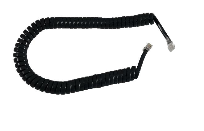 Handset Cord Navy/Charcoal Short Tail
