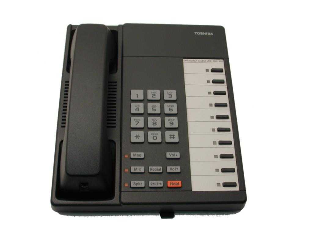 Toshiba DKT2010F-S 10 Key Speaker Telephone Charcoal