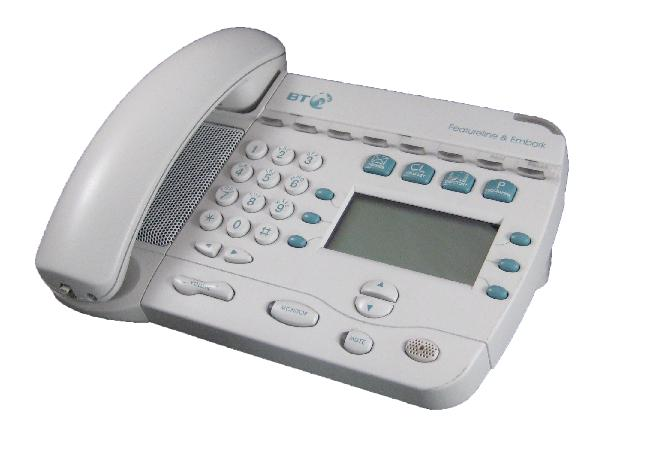 BT Featureline & Embark Telephone White