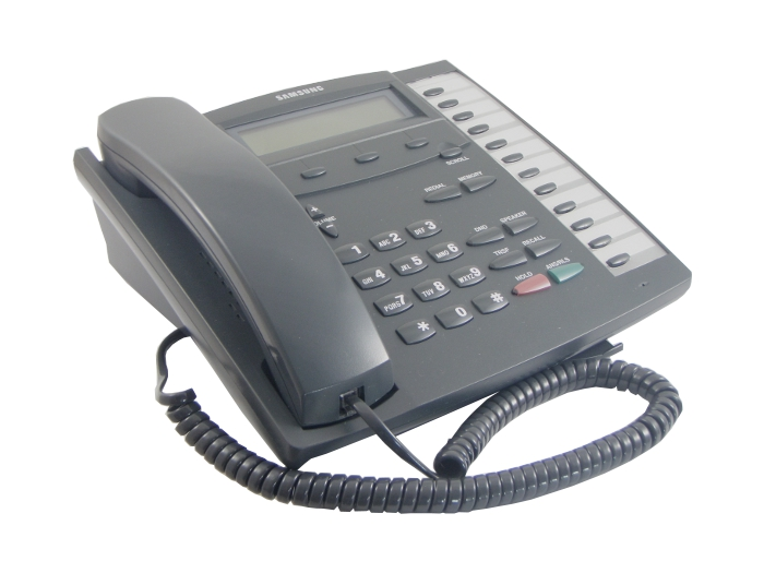 Samsung KPDCS-12B-LCD 12 Key Executive Phone Cahrcoal