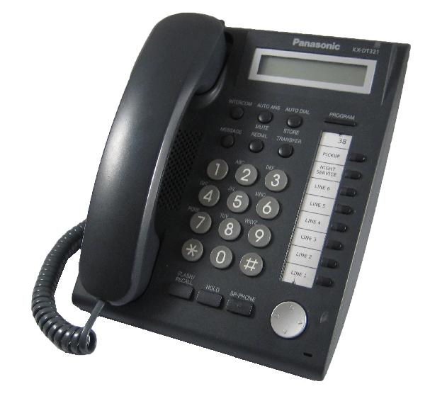 Panasonic KX-DT321 Digital Telephone Black