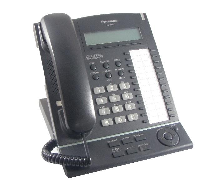 Panasonic KX-T7630E Black Telephone
