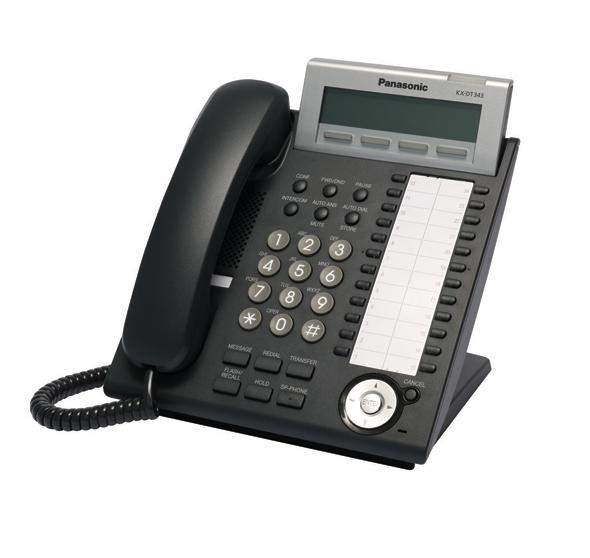 Panasonic KX-DT343 Digital Telephone Black