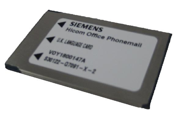 Siemens Language Card