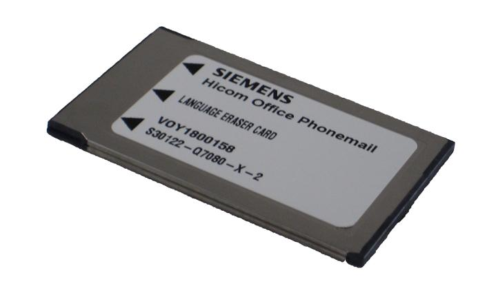 Siemens Language Eraser Card