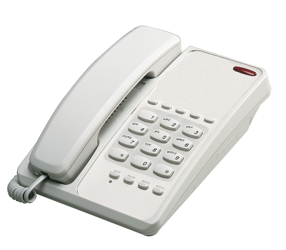 Interquartz Voyager Memory Telephone Red