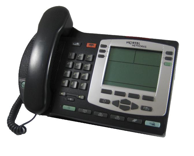 Nortel i2004 IP Telephone Black Silver Bezel