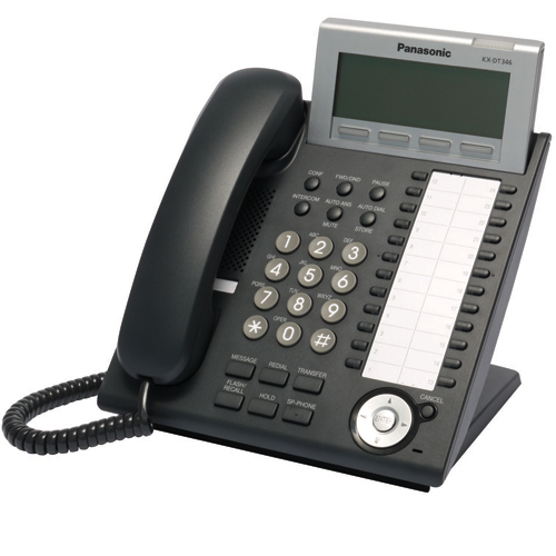 Panasonic KX-DT346 Digital Telephone Black